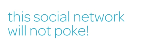 This social network will not poke!