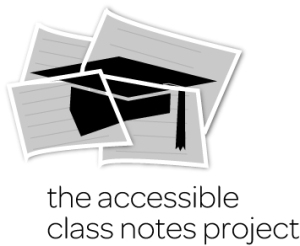 Accessible Class Notes Project